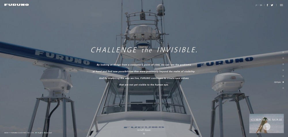 Furuno Corporate video on julkaistu: Challenge the invisible!
